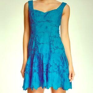 Nanette Lepore Lace Drop Waist Shift Dress